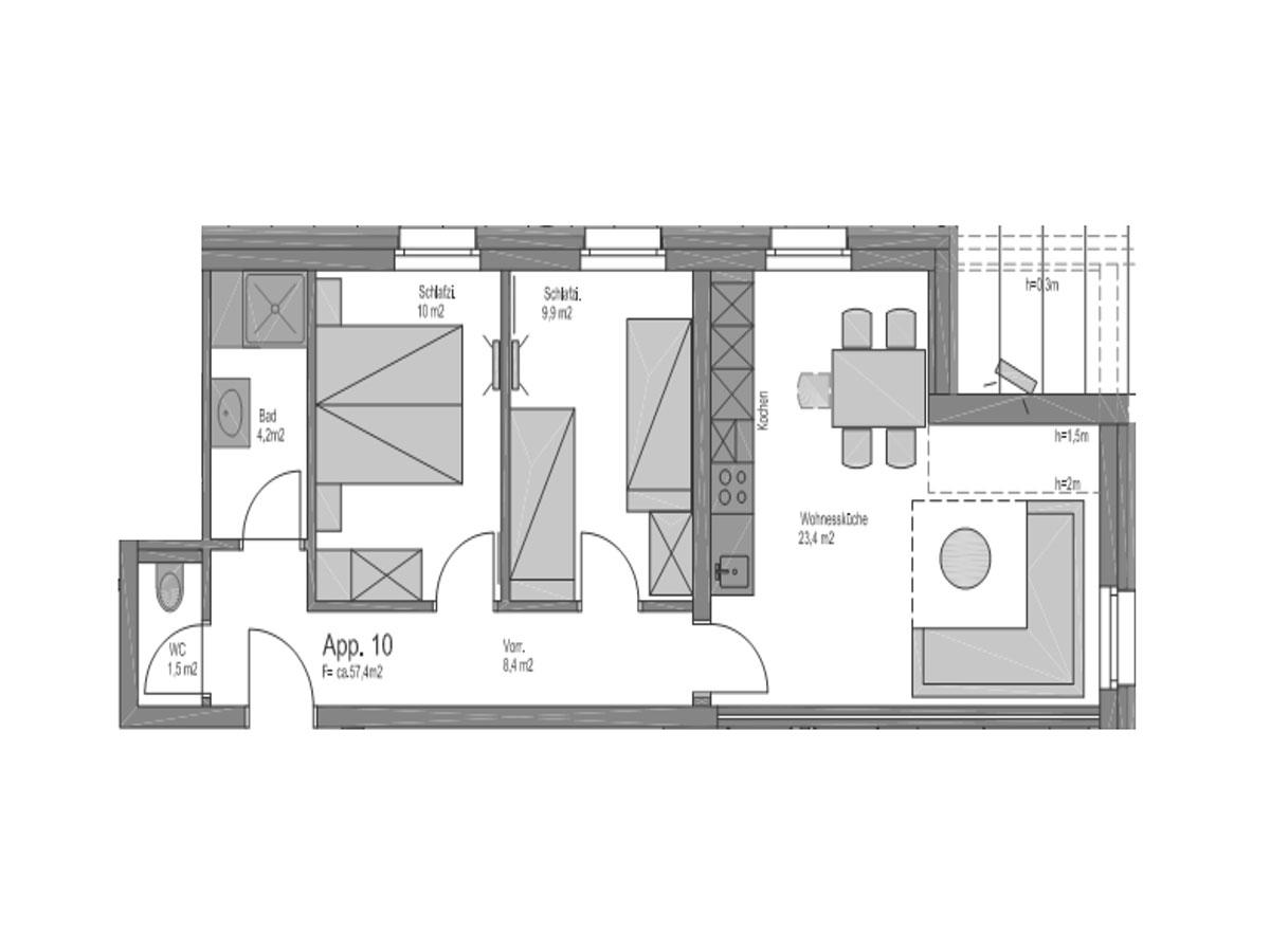 Ferienwohnung Sun 5 - Sunshine Appartements in Obertauern