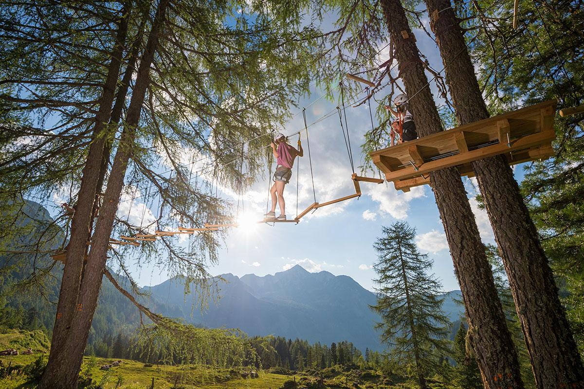 Hochseilgarten - Sommerurlaub in Obertauern, Salzburg
