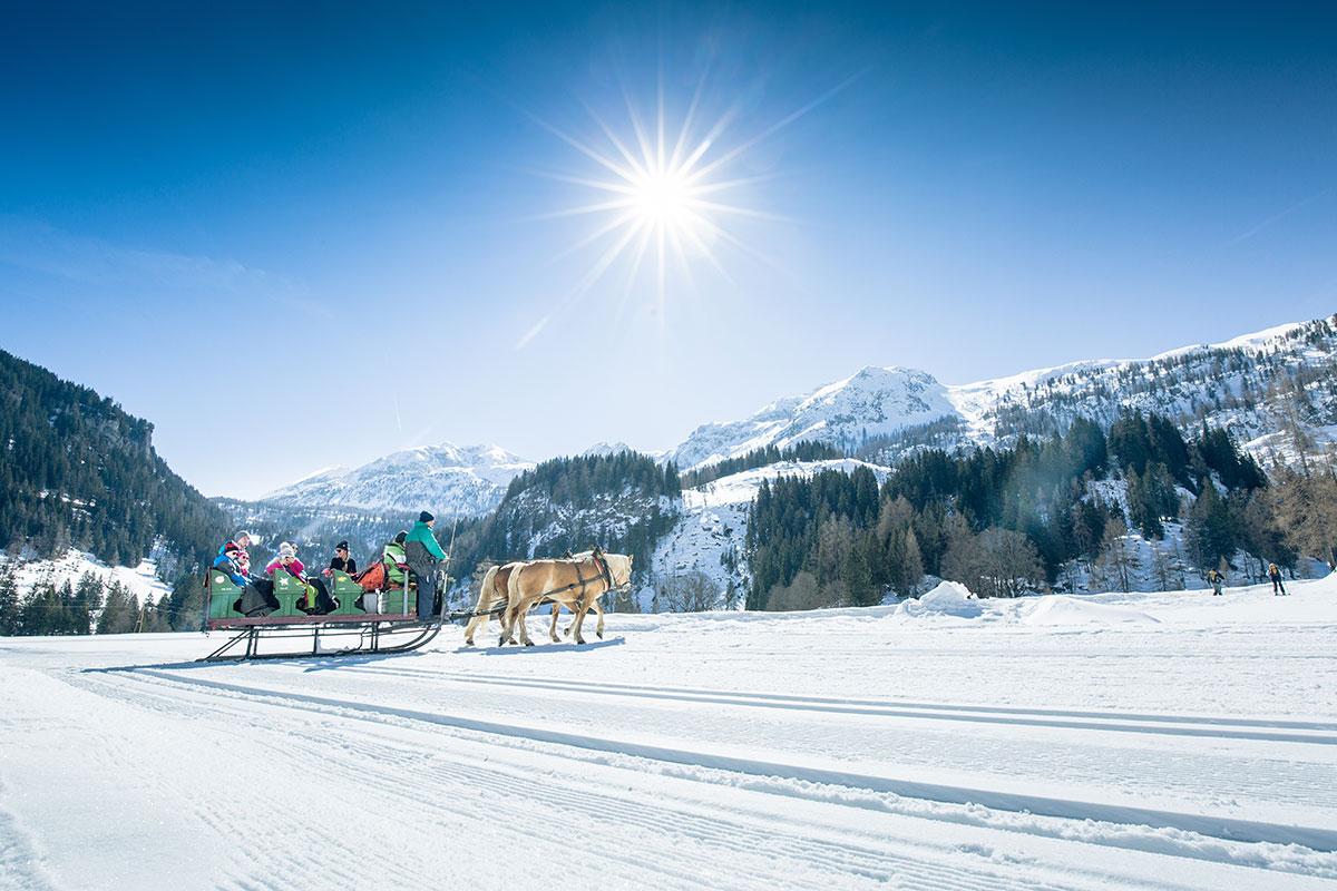 Pferdeschlittenfahrten - Winterurlaub in Obertauern