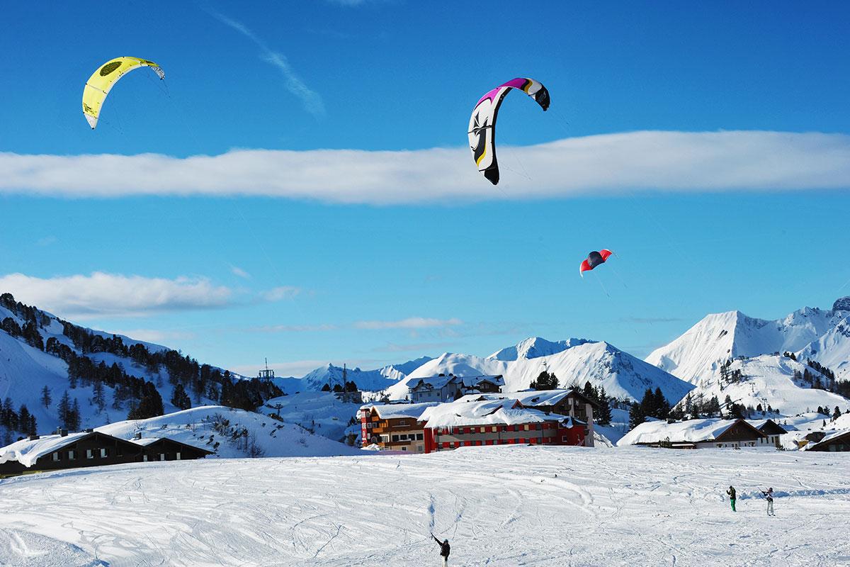 Snowkiten - Winterurlaub in Obertauern